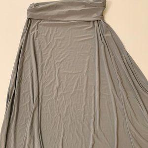 Unicorn! Plain gray slinky fabric Maxi skirt